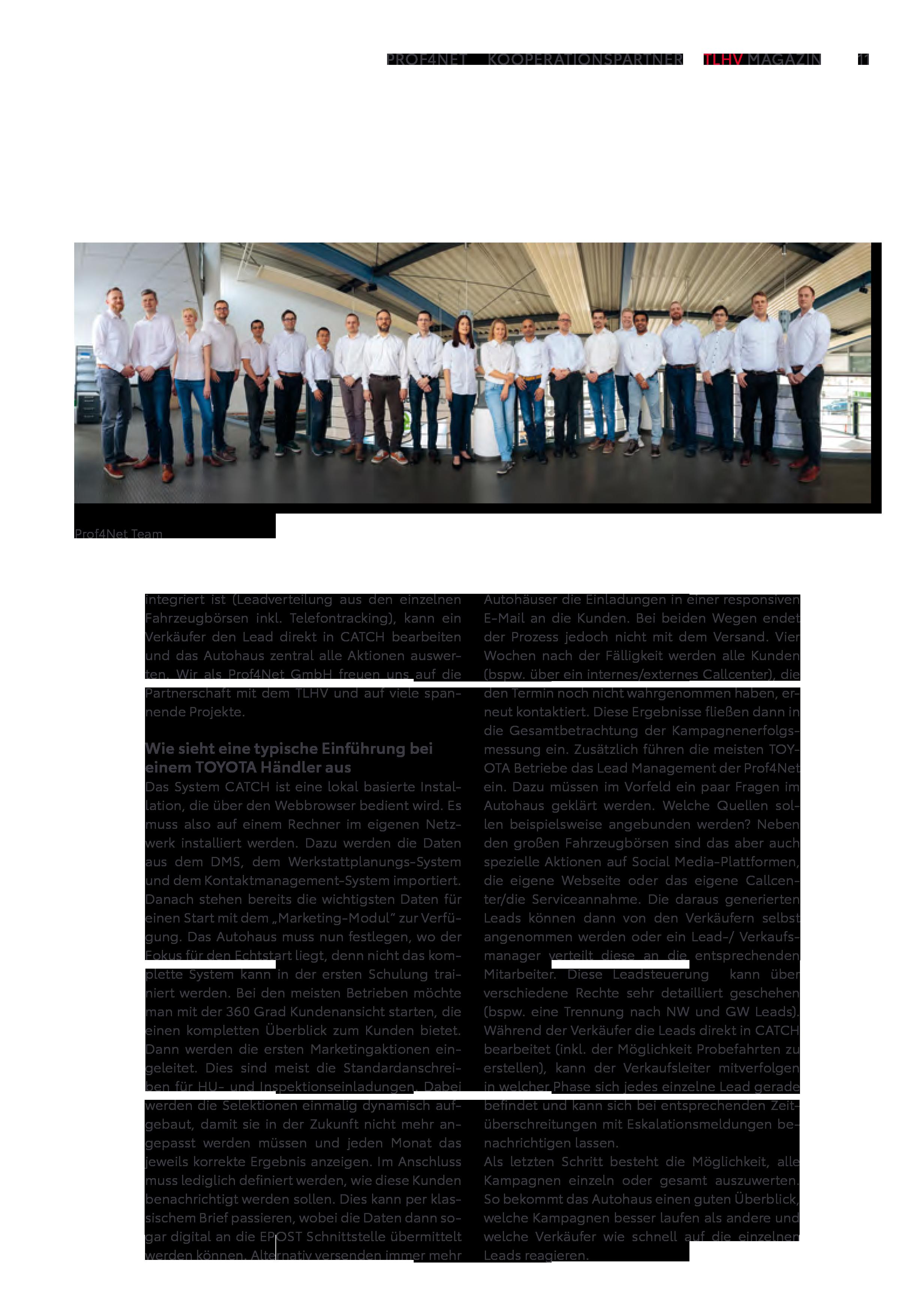 Artikel TLHV Magazin Prof4Net Seite 2