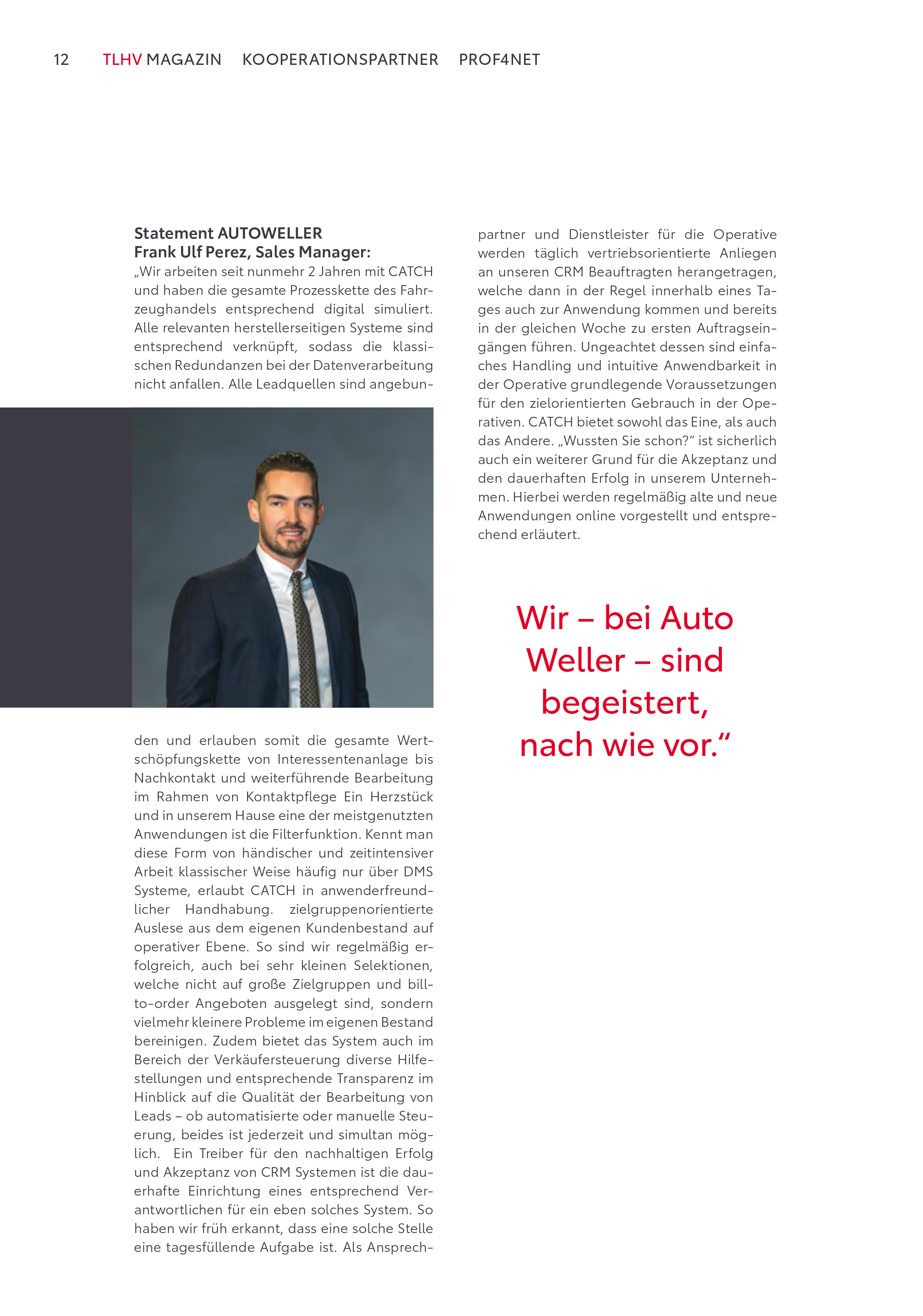 Artikel TLHV Magazin Prof4Net Seite 3